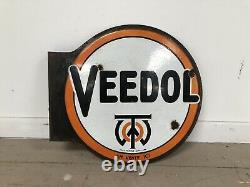 Plaque Emaillee Veedol Ancienne Enamel Sign Emailschild