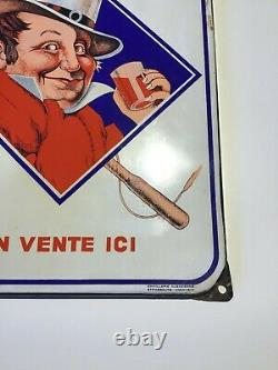 Plaque Emaillee Vin Du Postillon Plate