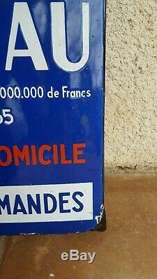 Plaque Emaillee Vins Marceau (eas)