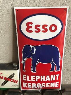 Plaque Emaillee Vintage ESSO