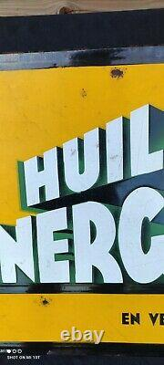 Plaque Émaillée Vintage Energol/Garage ancien/garage vintage/email Neuhaus Paris