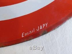 Plaque Emaillée ancienne Essence ECO double face