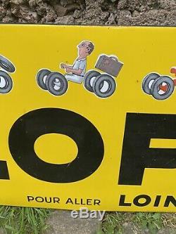 Plaque Emaillee/ancienne/garage/dunlop/publicite Ancienne