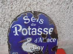 Plaque Emailles Ancienne Sels De Potasse Alsace