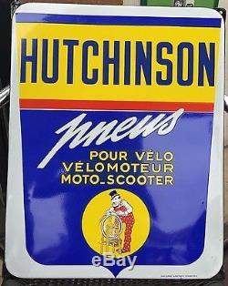 Plaque Hutchinson Emaillée ancienne