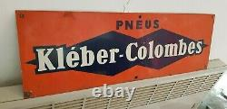 Plaque KLEBER COLOMBES (Petit Format 60cm x 20cm) Tôle Enseigne Pub Déco Garage
