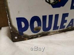 Plaque La Poule Au Pot émaillée bombée/le consommé parfait/années 30/