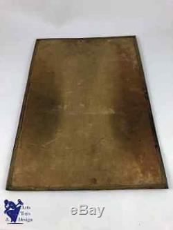 Plaque Publicitaire Ancienne Chocolat Menier Vers 1910 38.7x26.5cm