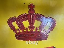 Plaque Rare Émaillée Ancienne SHELL De 1927 Enamel Sign Emailschild