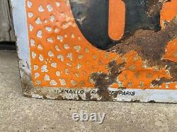 Plaque Rare Émaillée Goodrich Ancienne Enamel Sign Emailschild