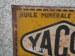 Plaque Tole Ancienne Yacco