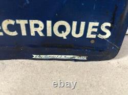 Plaque Tole Peinte Marchal Bougie Ancienne No Emaillee Enamel Sign Emailschild