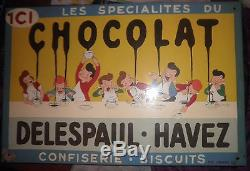 Plaque chocolat Delespaul Havez