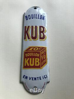Plaque de propreté KUB 1910 plaque emaillée RARE