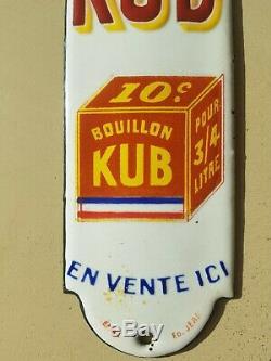 Plaque de propreté émaillée BOUILLON KUB DRAPEAU FRANÇAIS édition Jean
