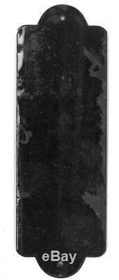 Plaque de propreté émaillée Les Produits Cygne Noir, émaillerie Alsacienne