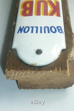 Plaque de propreté émaillée bouillon kub années 30 superbe véritable no copy