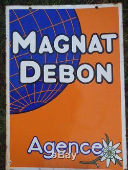 Plaque emaillée Magnat Debon moto
