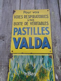 Plaque emaillée VALDA 3 elements Michele Morgan