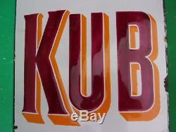 Plaque emaillée ancienneKUB-bombée, modèle 0,10