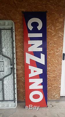 Plaque emaillée ancienne CINZANO