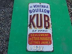 Plaque emaillée ancienne KUB, modèle pas courant, simple face