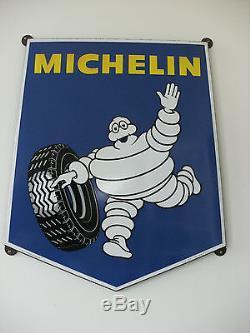 Plaque emaillée ancienne, Michelin, belles couleurs d'origine