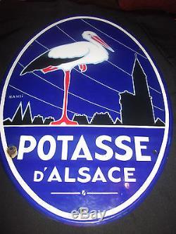 Plaque emaillée ancienne POTASSE D ALSACE