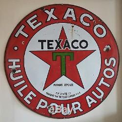 Plaque emaillée ancienne Texaco