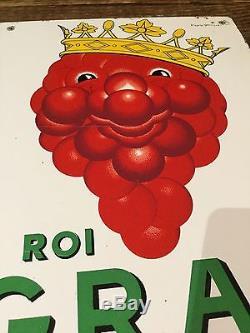Plaque emaillée ancienne tres rare LE ROI G. R. A. P