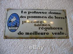 Plaque emaillée potasse d alsace email ed Jean a Paris