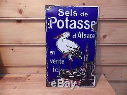 Plaque emaillèe sels de POTASSE D ALSACE