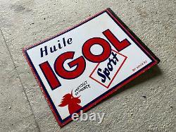 Plaque émaille Ancienne Huile Igol Sport Emailchild Enamel Sign