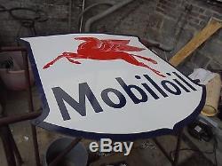 Plaque émaillé MOBILOIL