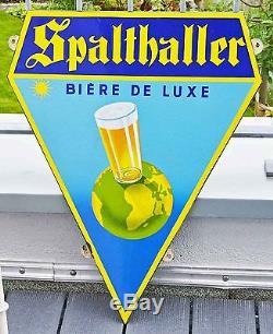Plaque emaillé Spalthaller BIERE DE LUXE