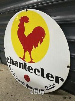 Plaque émaille Top État Huile Chanteclerc Emailchild Enamel Sign