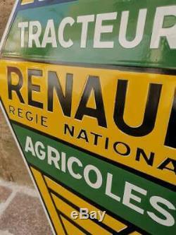 Plaque émaillé au pochoir de garage Tracteur Renault agricole déco garage Loft