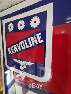 Plaque émaillé au pochoir de garage auto huile KERVOLINE déco garage Loft