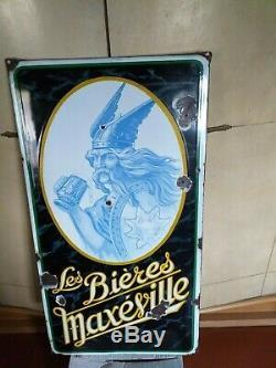 Plaque emaillée 1930 GAULLOIS Maxeville bieres