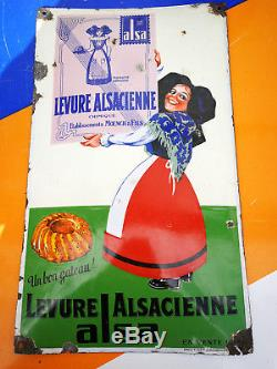 Plaque emaillée ALSA LEVURE ALSACIENNE