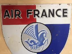 Plaque emaillee Air France, tres rare