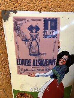 Plaque emaillee Alsa Levure Alsacienne