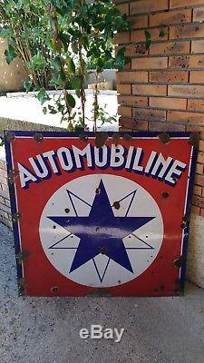 Plaque emailleé Automobiline Année 1920 EAS