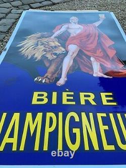 Plaque émaillee BIERE Champigneulles