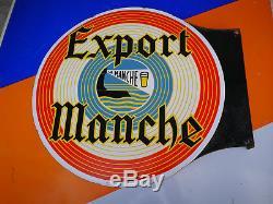 Plaque emaillée BIERE EXPORT LA MANCHE