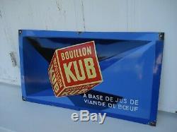 Plaque émaillée BOUILLON KUB 1935, signée SEPO, bel état