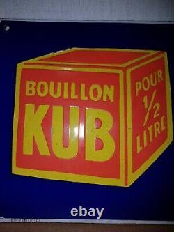 Plaque émaillée BOUILLON KUB 20x20