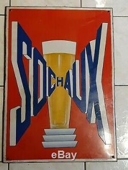 Plaque émaillée Bière