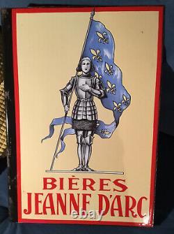 Plaque émaillée Bière Jeanne Darc RONCHIN NORD FRANCE NOËL
