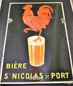Plaque émaillée Bière Saint Nicolas de Port originale 1925